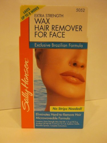 Sally Hansen Extra Strength Wax Hair Remover Kit for Face Brazilian Formula #5052