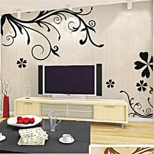EMIRACLEZE Christmas Gift Enjoy Life Passion Tree Leaves Flowers Simple Vine Removable Mural Wall Stickers Wall Decal for Home Decor