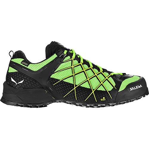 Salewa Wildfire GTX Hiking Shoe - Men's Black Out/Fluo Yellow, 13.0