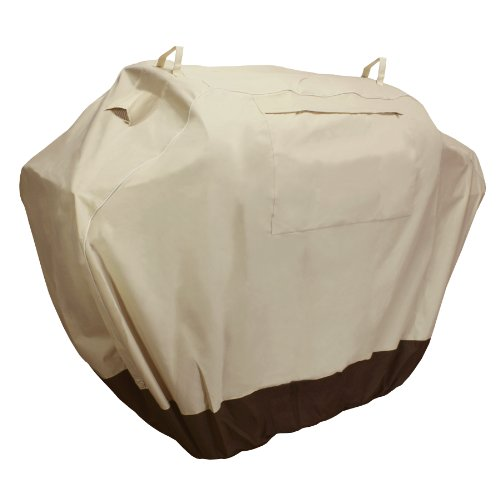 KHOMO GEAR, SAHARA Series, Waterproof Heavy Duty BBQ Grill Cover, Large 64 x 24 x 48, Compatible with Weber (Genesis), Holland, Jenn Air, Brinkmann, Char Broil, Kenmore & More (Veranda Cart Bbq Cover)