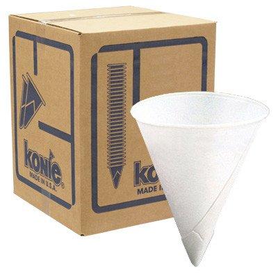Konie 4.5 Oz Rolled Rim Cone Cup (5000 Pack)