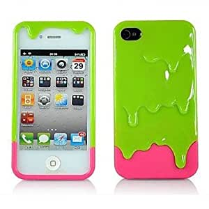 LX 2-In-1 Melting Icream Pc Case for iPhone 5/5S Back Case Color White
