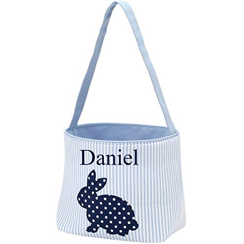 Personalized Blue Cotton Tail Easter -