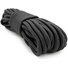 3/8 Inch 50 Foot Rope, Black, Camping Rope