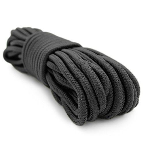 3/8 Inch 50 Foot Rope, Black, Camping Rope