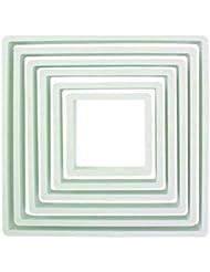 PME Square Cutter (Set of 6), White