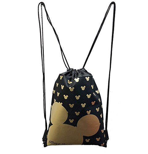 MICKEY MOUSE BACKPACK DRAWSTRING BACKPACK SLING TOTE BAG NWT DISNEY LAND GOLD