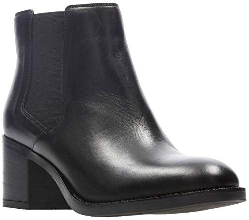 CLARKS New Women's Mascarpone Bay Boot Black Leather 9 (Textiles Rk)