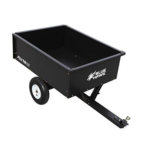 10cu ft Steel Dump Cart Garden Yard Wagon Lawn tractor Mower trailer Attachment by Nessagro (Image #1)