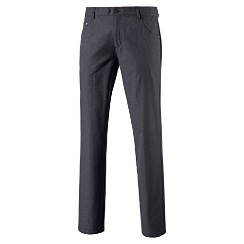 PUMA Golf Men's 2018 Heather 6 Pocket Pants, Quiet Shade, Size 38 x 32