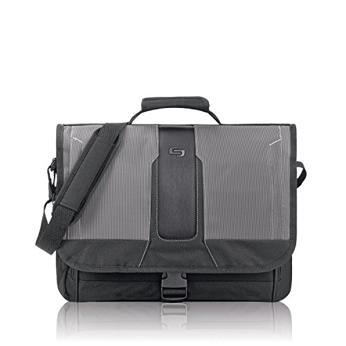 Solo Computer (Solo Supreme 15.6 Inch Laptop Messenger, Black/Grey)