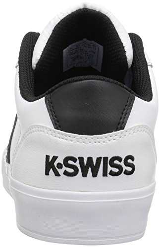 K-Swiss Men's Addison Vulc Leather Sneaker White/Black cheap sale fast delivery new arrival clearance sale online qFLoZjX48