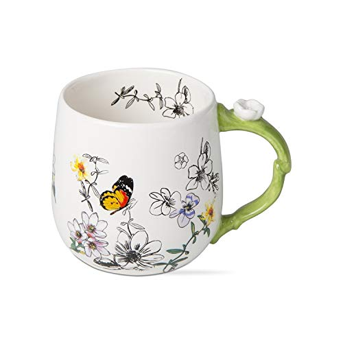 Trade Associate Group, Mug Butterfly Fancy Bloom 20oz