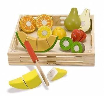 Schneideobst Klett Früchte Holz Holzobst Kinderküche Amazonde
