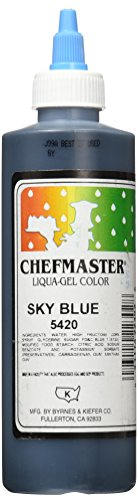 Chefmaster Liqua-Gel Food Color, 10.5-Ounce, Sky Blue by Chef-Master