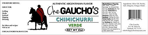 Argentine Chimichurri Grilling Sauce - Gaucho Style - Verde - 8 ()