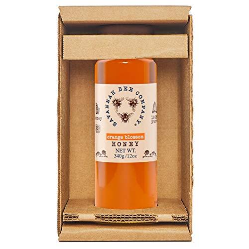 Savannah Bee Company Orange Honey - Orange Blossom Honey - 12 Ounce Tower Gift by Savannah Bee Company