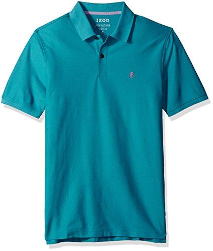 - IZOD Men's Regular Fit Advantage Performance Short Sleeve Solid Polo, Deep Algiers Blue, Small