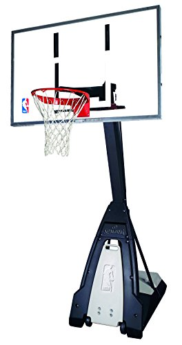 Spalding 74560CA NBA The Beast Portable Basketball System - 60-Inch Glass Backboard