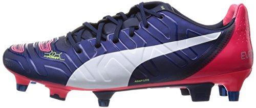 peacoat 01 Pumaevopower Football 1 bright Homme Chaussures Mixed De Bleu Plasma Pour 2 Sg white Blau PZYdwPx