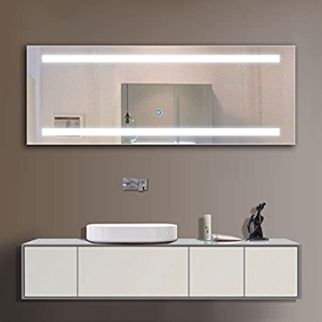 65 X 24 In LED Lighted Mirror With Touch Button D C230