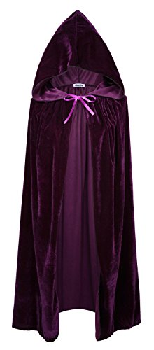 VGLOOK Kids Hooded Cloak Cape for Christmas Halloween Cosplay Costumes Ages 5 to7 Purple
