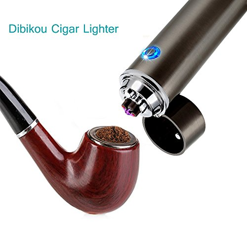 Dibikou Electric Rechargeable USB Dual Arc Cigarette Lighter Windproof Flameless Electronic Plasma Lighter
