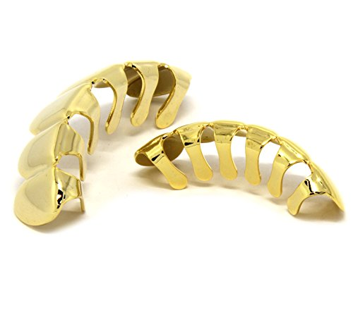 New custom fit k gold plated hip hop teeth grillz caps