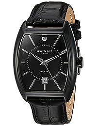 Kenneth Cole New York Men's 10030820 Genuine Diamond Analog Display Japanese Quartz Black Watch