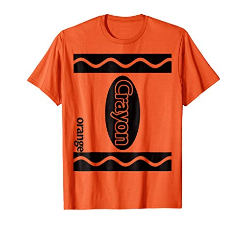Orange Crayon Box Halloween Costume Couple Group T-Shirt -