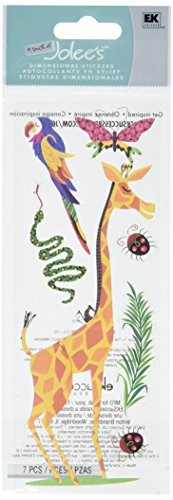 Jolees Wild Dimensional Stickers - Touch of Jolee's Dimensional Sticker-Giraffe & Parrot