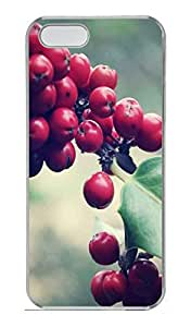 Holly Cover Case Skin for iPhone 5 5S Hard PC Transparent