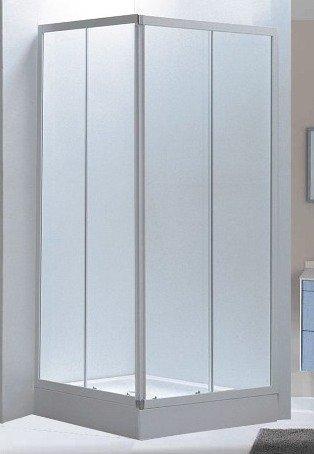 Box doccia angolare 70x90x185 vetro 4 mm stampato opaco: amazon.it ...