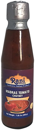 Rani Madras Tomato Chutney 7oz (200g) Glass Jar, Ready to eat, Vegan ~ Gluten Free | NON-GMO | No Colors | Indian Origin