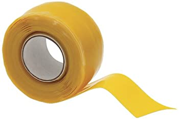 "X-Treme Tape TPE-XZLYEL Silicone Rubber Self Fusing Tape, 1"" x 10', Triangular, Yellow"