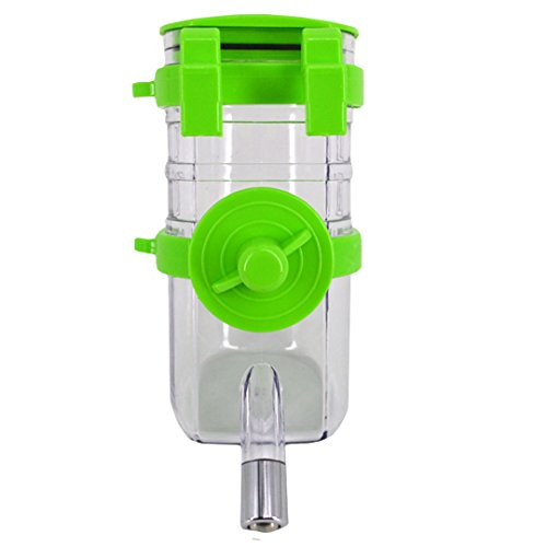 Budd Pet Dispenser Water Bottle Dog Cat Portable Water Kettle Automatica Water Drinking Feeder for Small Puppy Kitten and Rabbit(Green,500ML) (Precision Cat Cage)