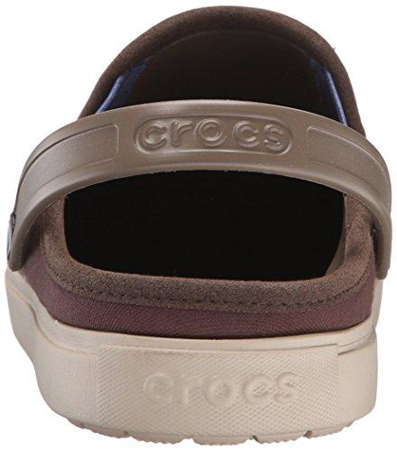 crocs Citi Lane Canvas Clog - Zuecos Unisex para adulto Espresso/Cobblestone