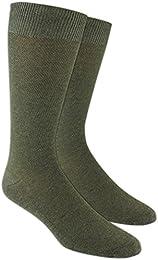 Best Sale The Tie Bar Solid Texture Men Cotton Blend Dress Socks