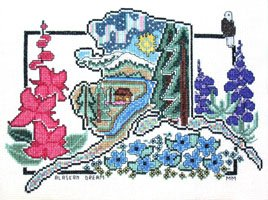 Alaskan Dream Counted Cross Stitch Pattern