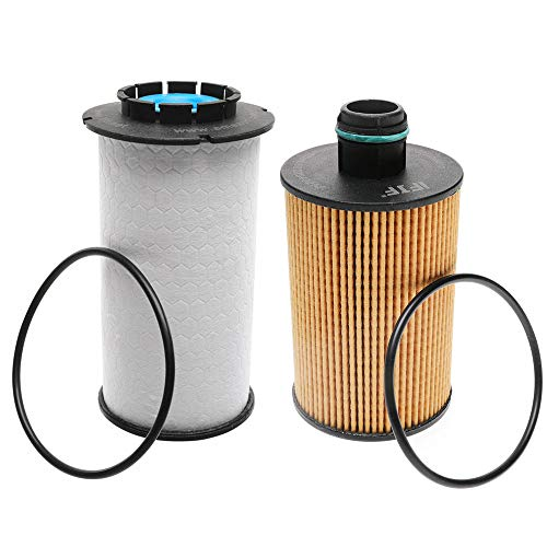 Price comparison product image iFJF 68235275AA Fuel Filter and 68229402AA Oil filter for Ram 1500 2014-2018 3.0L V6 Diesel Turbocharged Engine
