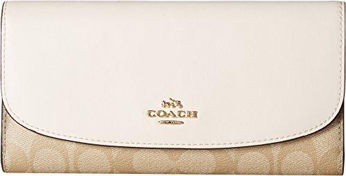 ure PVC Checkbook Wallet Khaki/Chalk One Size (Coach Handbags Wallets)