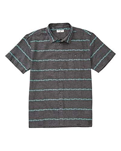 (Billabong Men's Sundays Jacquard Short Sleeve Shirt Asphalt Heather Small)