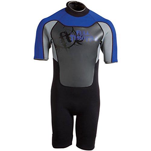 Full Throttle Adult Neoprene Shorty Wetsuit, Blue-Grey, Smal