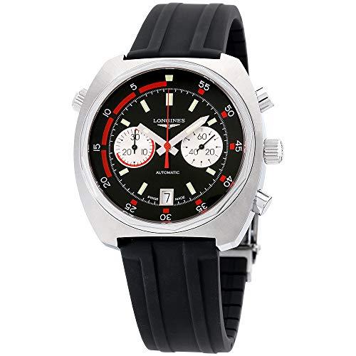 Longines Heritage Diver Auto Black Sunray Dial Black Rubber Mens Watch L2.796.4.52.9