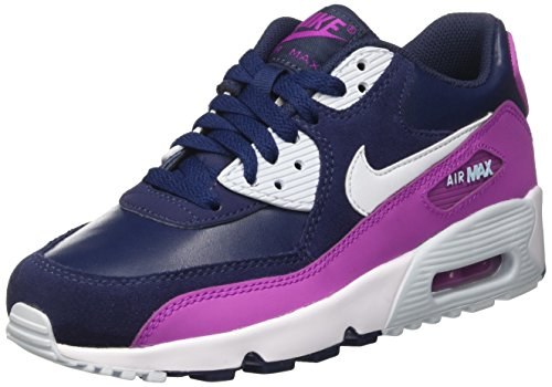 Nike Youths Air Max 90 Leather Multi Suede Trainers 37.5 EU
