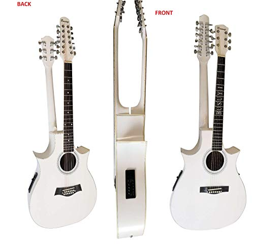 12/6 String Lead 2019 Busuyi Double Neck,Double Sided Acoustic Electric Guitar