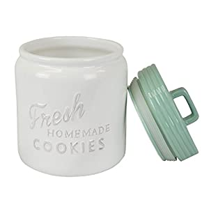 DII Ceramic Kitchen Matching Containers, (Set of 2) , Cookie Jar & Coffee Canister - Aqua