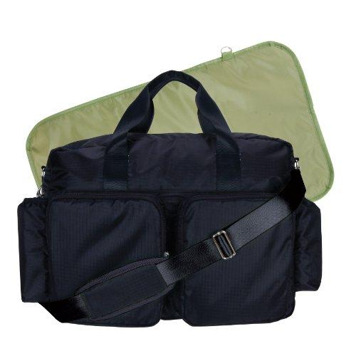 Diaper Avocado Bag - Trend Lab Deluxe Diaper Bag, Black/Avocado Green