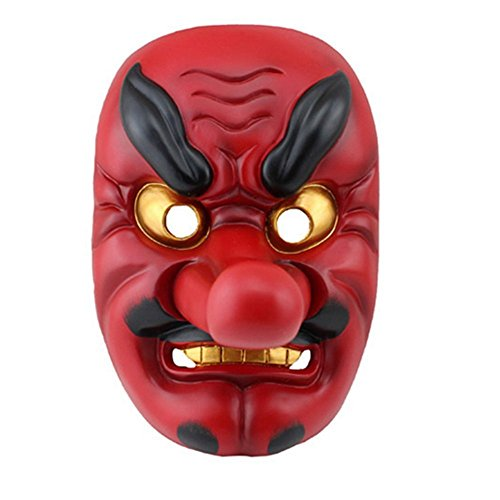 DLLL Plastic Japanese Legendary Specter Replica,Tengu Braggart Mask Red For Party,Cosplay,Collection (Plastic Red): Amazon.es: Juguetes y juegos
