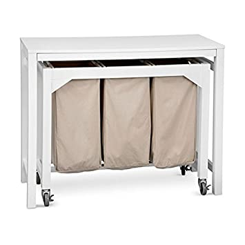 Laundry Folding Table With 3 Clothes Hampers By Improvements